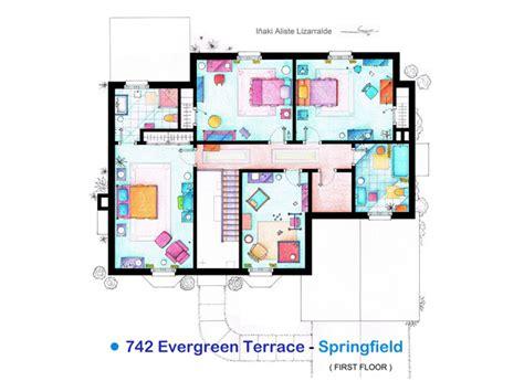 742 evergreen terrace floor plan designers in brawl novelty floor plans of the simpsons house technology tech