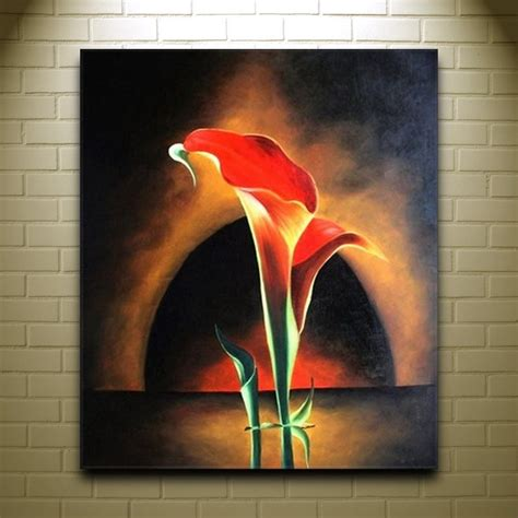 famous modern art beautiful flower oil painting modern art canvas painting