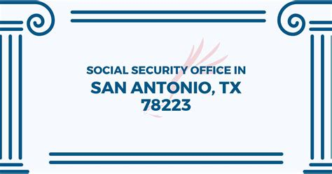 social security office in san antonio 78223 get