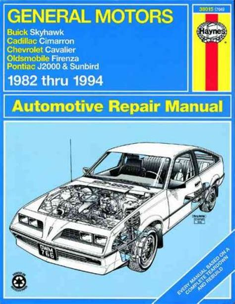 automotive repair manual 1984 buick skyhawk regenerative braking general motors j cars 1982 1994 haynes service repair manual sagin workshop car manuals repair