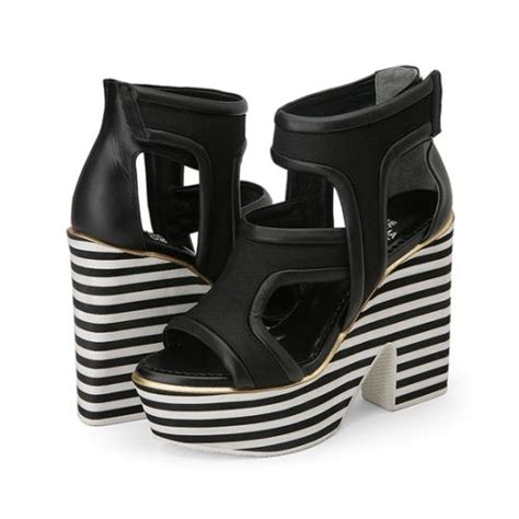 Sepatu Wedges Wave Lls Mnt997 1000 images about black and white striped shoes on sneakers webster