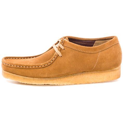 wallabees shoes clarks originals wallabee mens casual shoes in cola suede