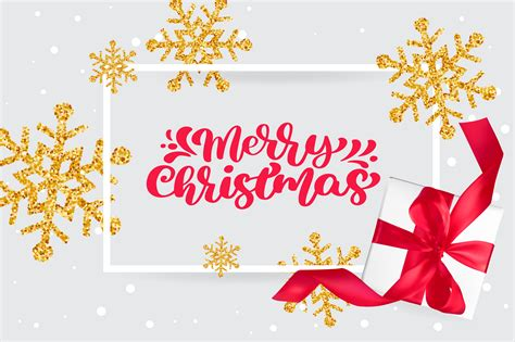 merry christmas red vintage calligraphy lettering vector text  greeting christmas card