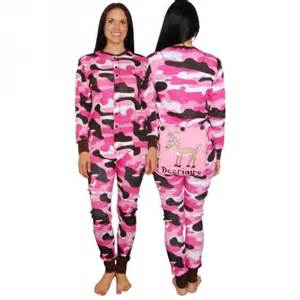 Comfortable Sandals For Travel Lazy One Pink Camo Flapjacks Onesie Pajamas