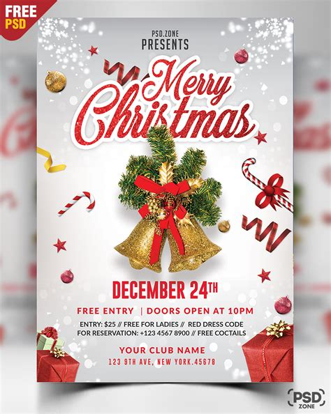 Merry Christmas Flyer Free Psd Psd Zone Merry Flyer Template Free