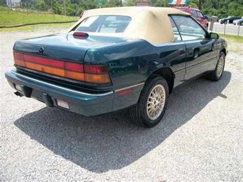 automobile air conditioning repair 1993 chrysler lebaron interior lighting purchase used 1993 chrysler lebaron gtc convertible 2 door 3 0l turbo engine in morristown
