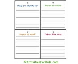 prayer journal template child s prayer journal activities for