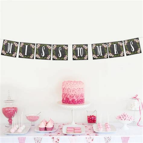 Wedding Shower Banner by Miss To Mrs Bridal Shower Banner Wedding Shower Banner