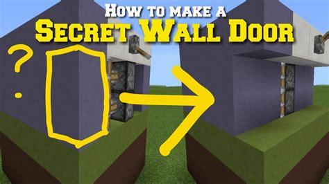 mcpe minecraft pe     secret wall door youtube