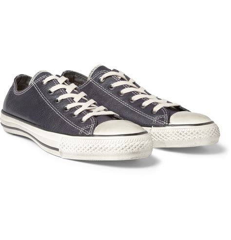 converse leather sneakers converse varvatos fullgrain leather sneakers in blue