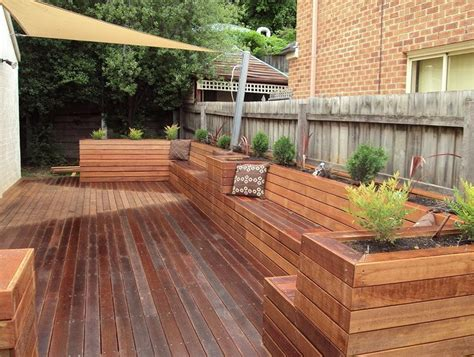 deck planters and benches deck planter box bench modern townhouse pinterest