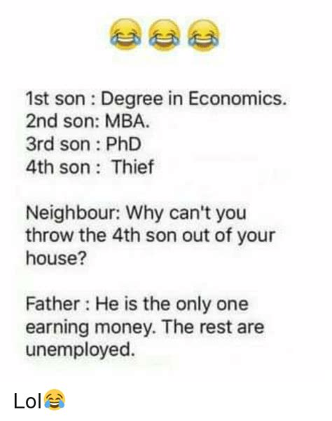 Mba Economics Dual Degree by 1st Degree In Economics 2nd Mba 3rd Phd 4th