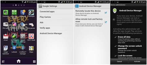 remotely android android device manager erase phone remotely