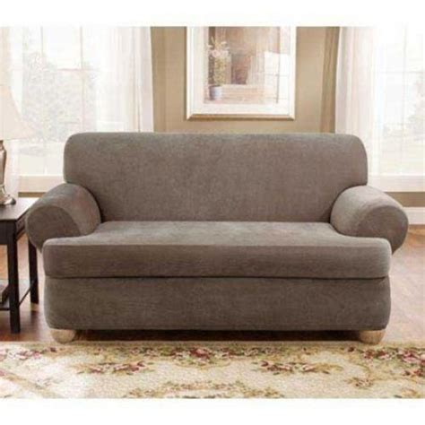 2 piece couch covers 2 piece stretch sofa slip cover ebay