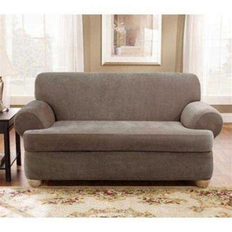 2 piece sofa cover 2 piece stretch sofa slip cover ebay