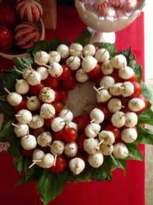 christmas appetizer tomato fresh mozzarella and basil