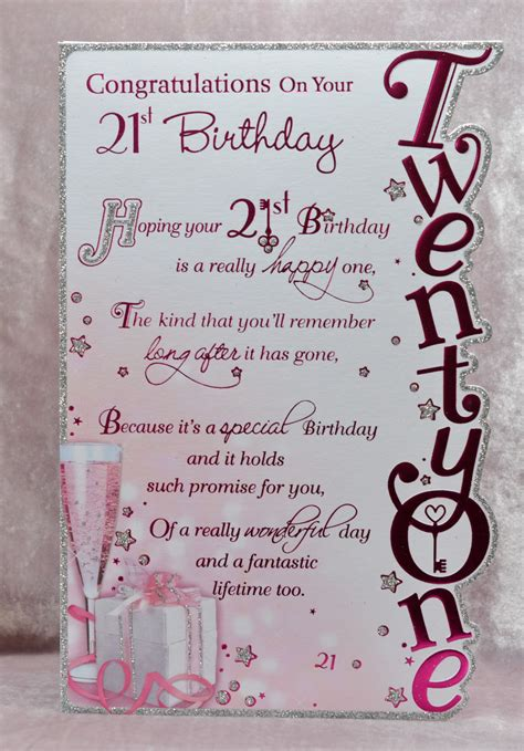 Handmade 21 Birthday Card - handmade greeting cards birthday cards for