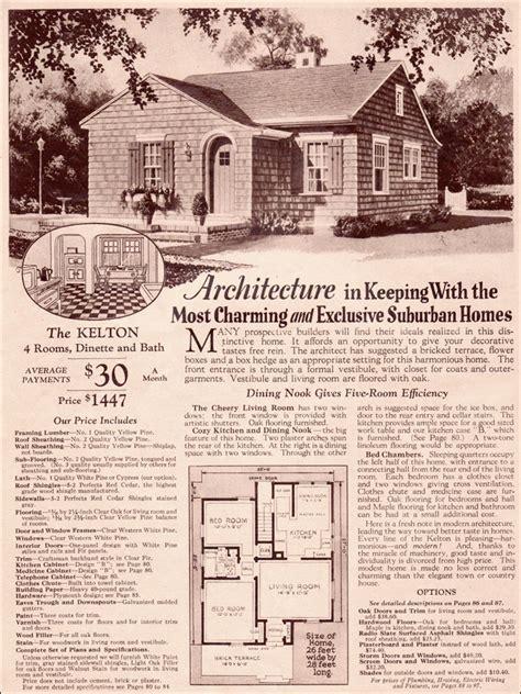 1930 Kelton Modern Cottage Minimal Traditional Montgomery Ward House Plans