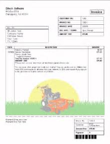 lawn mowing invoice template free landscaping invoice template free free business template