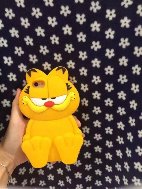 Cat 3d Iphone 5 6 6plus 3d garfield cat silicone phone cover for