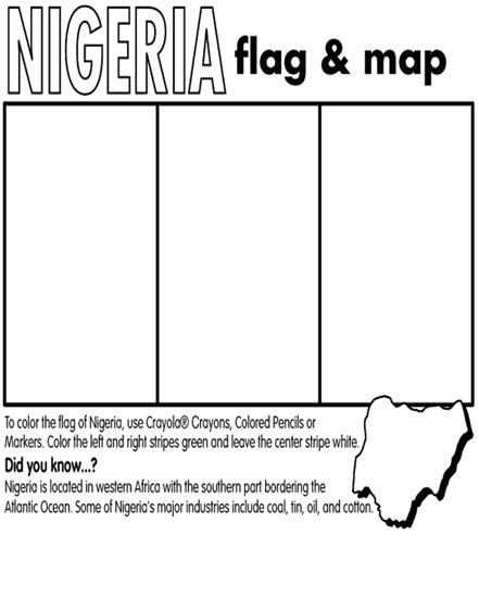 nigeria map coloring page nigeria coloring page crayola com