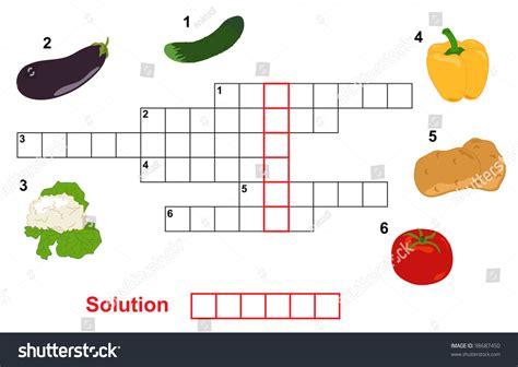 fruit 5 letter word vegetable puzzle crossword words children stock