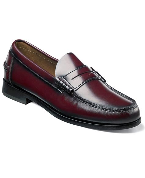means loafers florsheim s berkley loafer leather burgundy shoes