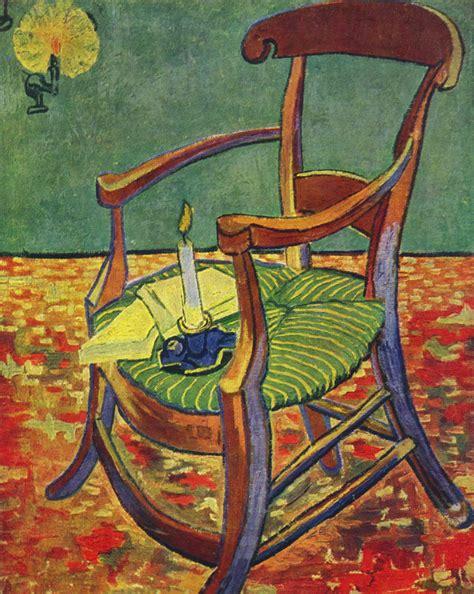 la sedia la sedia di gauguin opera di gogh