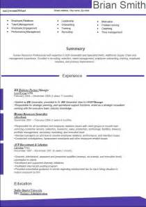popular resume formats new resume format 2016 hr manager violet summary experience