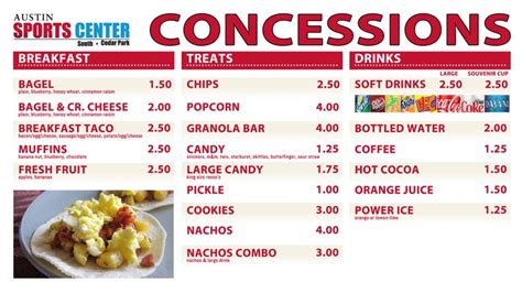 concession stand menu template concession stand price list template writersgroup836 web