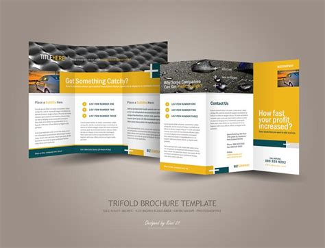brochure photoshop template trifold brochure template psdbucket
