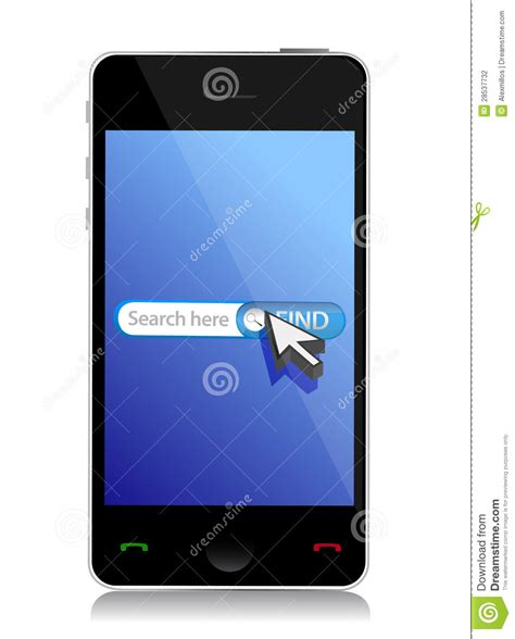 Phone Lookup Net Smart Phone Web Search Stock Photography Image 28537732