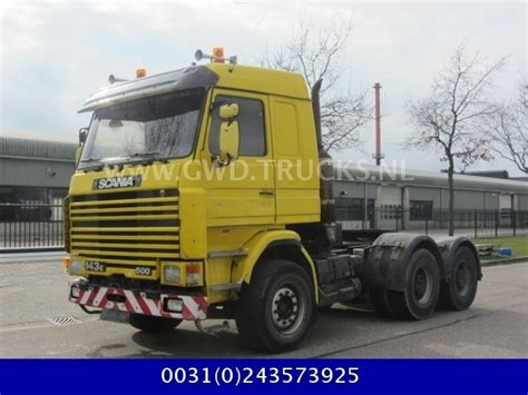 scania 143 500 6x4 tractor unit from netherlands for sale