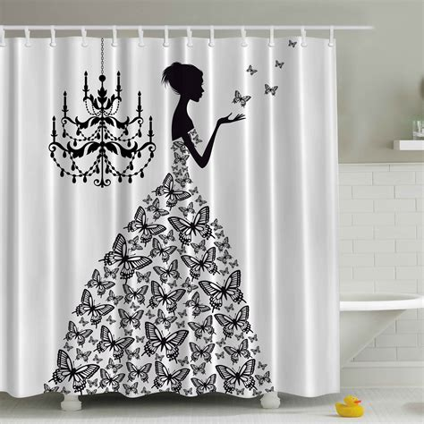 print shower curtain ambesonne madame butterfly print shower curtain reviews