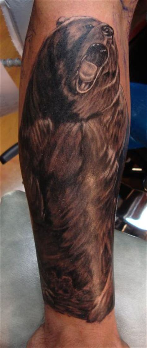 grizzly bear tattoos grizzly attack by larry brogan tattoos