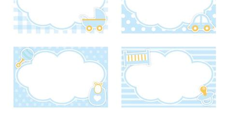 free baby shower place card template free printable boy baby shower name tags the template can