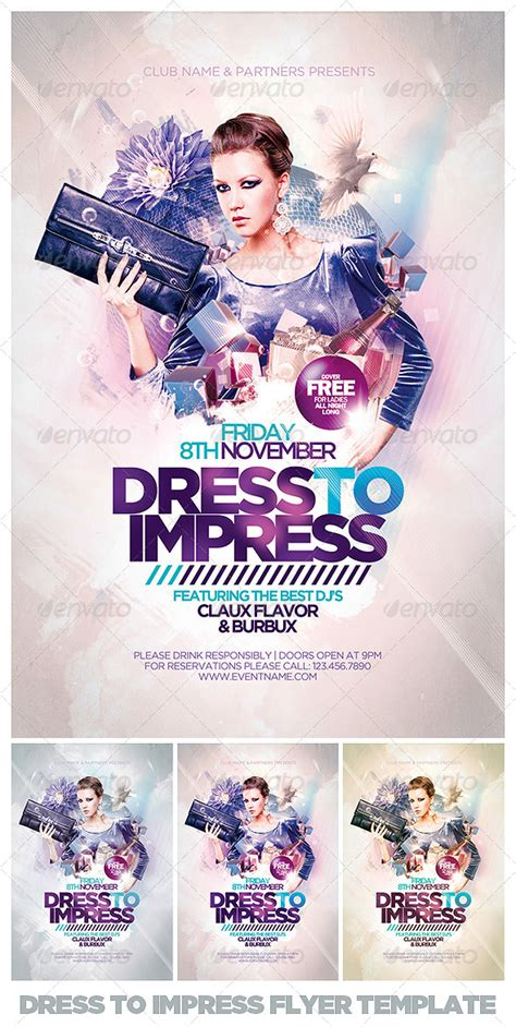 Impress Design Vorlagen Dress To Impress Flyer Template By Eamejia Graphicriver