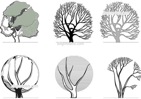 Trees and Plants dwg models, free download » Page 2