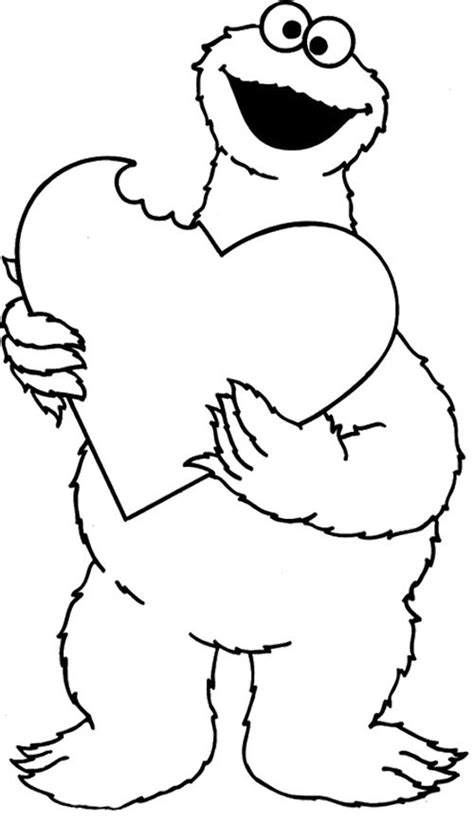 coloring pages of funny monsters cookie monster funny coloring page quotes and
