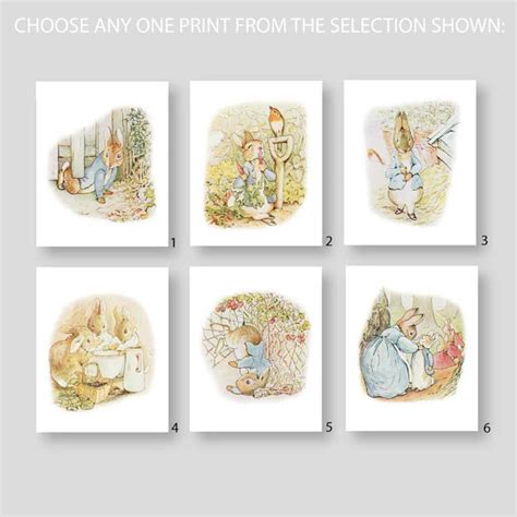 Beatrix Potter Nursery Decor Rabbit Nursery Decor Beatrix Potter Prints Baby Boy