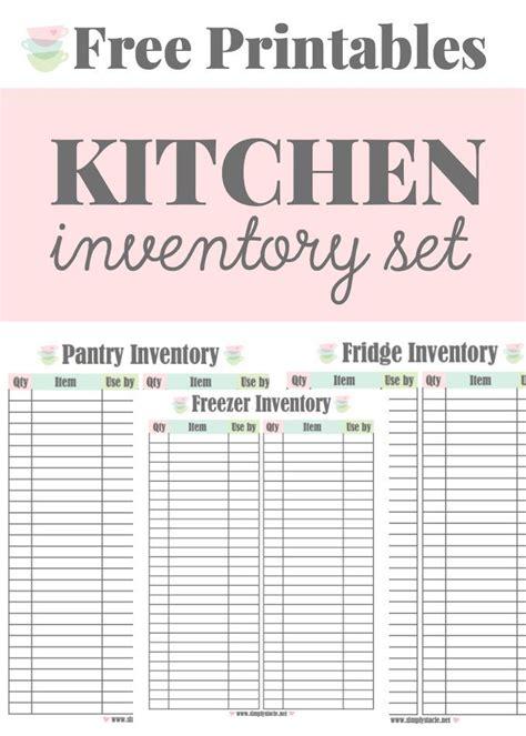 Free Printable Homemaking Journal   kitchen inventory printables free printables homemaking