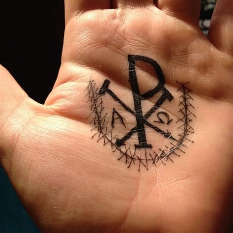 tattoo on inside hand 50 chi rho tattoo designs and meanings