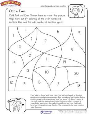 free printable math worksheets even odd odd and even coloring page teaching pinterest math