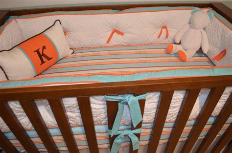beach crib bedding aqua and orange beach inspired nursery project nursery