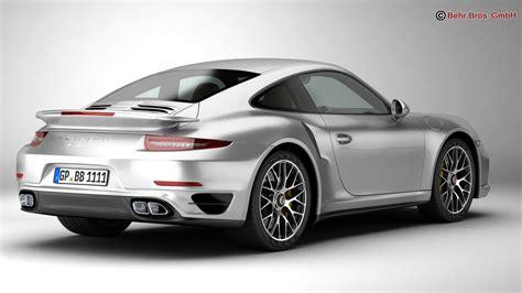 Model Porsche 911 by Porsche 911 Turbo S 2014 3d Model Buy Porsche 911 Turbo