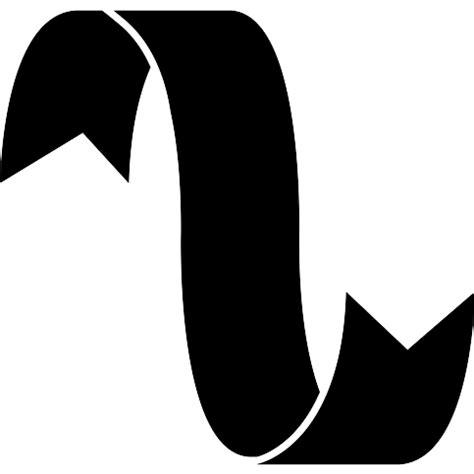curve shape black womew ribbon curve in black shape free shapes icons