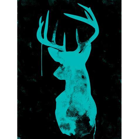 oh deer black neon canvas art print hardtofind