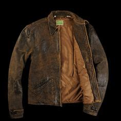 mens distressed brown leather moto jacket search