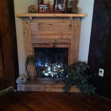 fake fireplace logs with lights faux pallet fireplace not a fan of the lights but a few