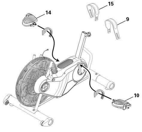 schwinn airdyne parts diagram schwinn ad6 airdyne exercise bike review
